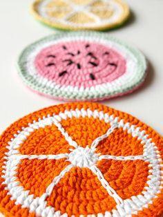 Hermosos adornos de frutas al crochet, una idea fantastica para decorar nuestra cocina!