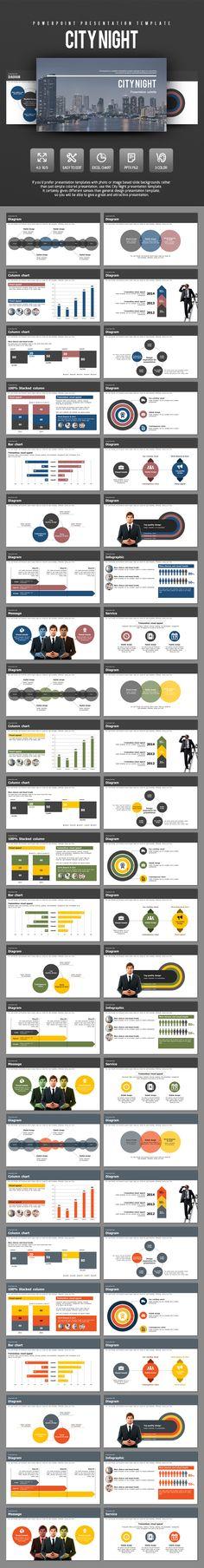 City Night PowerPoint Template #design #slides Download: http://graphicriver.net/item/city-night/14113800?ref=ksioks