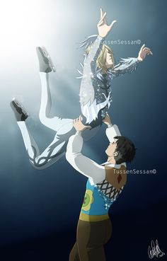 Otabek and Yurio - Pair ice skating by TussenSessan