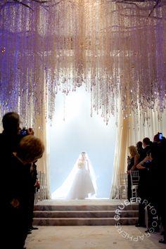 Make an entrance!  Dangling crystal strands are uber-glamorous at the uber-fabulous Waldorf Astoria