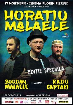 """""""Ediţie Specială"""" cu Horaţiu Mălăele: spectacol de comedie şi proiecţie de film la Cluj-Napoca"""