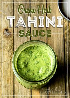 Green Herb Tahini Sauce Recipe