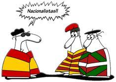 Nacionalismo catalán, vasco y español