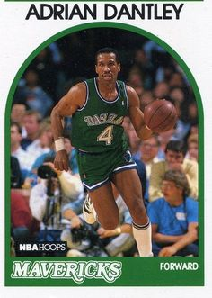 RARE 89/90 NBA HOOPS ADRIAN DANTLEY DALLAS MAVERICKS