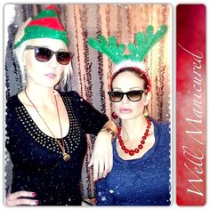 Never pass up the opportunity to wear silly holiday headgear. Wishing everyone a very Merry Christmas from the girls of Well Manicured!  @Melanie McCulley @mkmspagirl #wellmanicured #nails #sillyhats #christmas #nailpro #nailstylist #nailartist #nailsalon #womeninbusiness #manhattanbeach #hermosabeach #intheheartofthesouthbay #la #toocool #strikeapose #photoshoot #nailsmagazine #nailpromagazine #nailedit #girls #Padgram