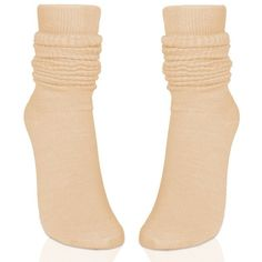 Amazon.com: Womens Fashion Slouch Socks 3pairs(1pack) (Beige):... (205 MXN) ❤ liked on Polyvore featuring intimates, hosiery, socks, slouch socks, beige socks and slouchy socks
