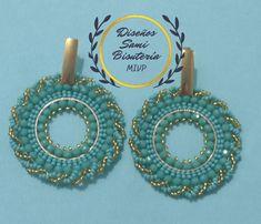 Earrings Handmade, Handmade Jewelry, Brick Stitch Earrings, Crochet Headband Pattern, Lucci, Beading Patterns, Jewelry Crafts, Crafty, Beads