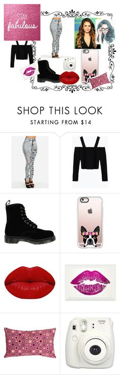 """""""jenova"""" by shakiadinkins on Polyvore featuring beauty, Zara, Dr. Martens, Casetify, Winky Lux, Oliver Gal Artist Co. and Pillow Decor"""