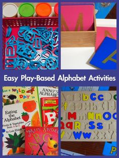 Easy Play-Based Alphabet Activities « United Teaching