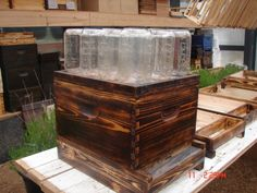 FJK - I may get into honey harvesting and this looks like a good project for it.  DIY Bee hive with mason jars