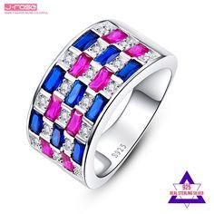 Exquisite 925 Argent Bague Pour Femme Blanc Rainbow Topaz Gemstone Jewelry SZ 6-9