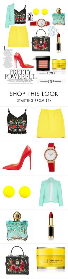 """""""i love harry styles"""" by kate99k ❤ liked on Polyvore featuring Michael Kors, Christian Louboutin, Skagen, Damsel in a Dress, Anna Sui, L'Oréal Paris, Dolce&Gabbana, Rodial and Bobbi Brown Cosmetics"""