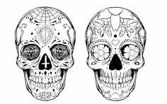 Sugar skull tattoo design by alxpalm.deviantart.com on @DeviantArt