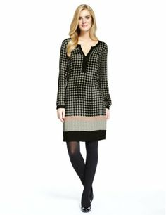 M&S Collection Multi Diamond Print Tunic Dress - Marks & Spencer