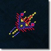 modèle broderie berbere 7 Kamiz, Tribal Patterns, Mode Inspiration, Applique Designs, Beaded Embroidery, Geometry, Diy And Crafts, Stencils, Quilts