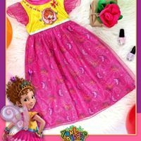 Fancy Nancy Toddler Little Girls Nightgown Sparkly Knee Length 3T