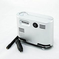 Kensun Portable Travel High Pressure Snow Tube Pump Air Compressor (High Pressure Air Compressor, Silver)