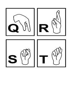 American Sign Language: Alphabet Flash Cards
