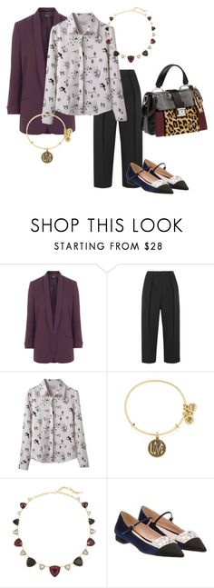 """""""My own prescription for health is less paperwork and more running barefoot through the grass. – Leslie Grimutter"""" by emma-oloughlin ❤ liked on Polyvore featuring Topshop, Joseph, Alex and Ani, White House Black Market, Miu Miu, WorkWear, ootd, fabulous, MyStyle and citylife"""