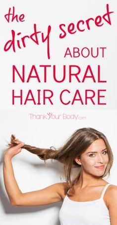 The dirty secret about natural hair care. Yessss.