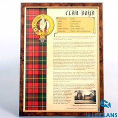 Boyd Clan History Print