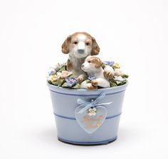 Puppies In A Bucket Music Box