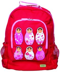 Babushka Canvass Backpack | Party Twinkle  This gorgeous canvas backpack is designed by Bobble Art - one of Australia's leading suppliers of iconic accessories for children. Bobble Art's highly emotive range appeals to both parents and children alike, offering unique and iconic designs.