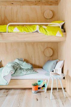 bunk beds in a kids bedroom