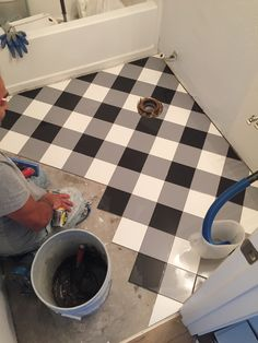 When we moved in to our house, we knew that we wanted to renovate our downstairs bathroom. It wasn't much to look at, with it's vinyl floor, builder grade cabinet, and plain white walls…