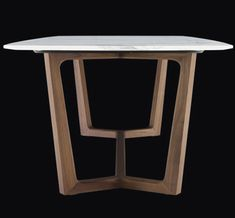 Dining table / rectangular / contemporary / wood - CONCORDE by Emmanuel Gallina - Poliform - Videos Wood Table Bases, Oak Table, Table Legs, Wood Tables, Side Tables, Table Beton, Concrete Table, Modern Dinning Table, Dining Room Table