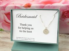 Thank you gift for Bridesmaid gift personalized by SilverStamped