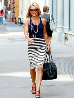 Kelly Ripa - solids & stripes
