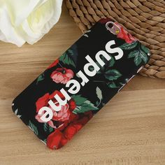 Compatible Brand: Apple iPhones iPhone Model: 6(s), 6(s)Plus, 7 & 7Plus Plastic Matte finished Anti-Knock case with Fashion Supreme inspired Logo & Flower Leaves imprinted on case