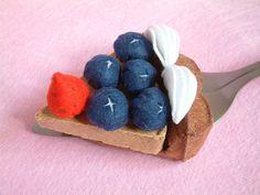 Felt Blueberry Tart