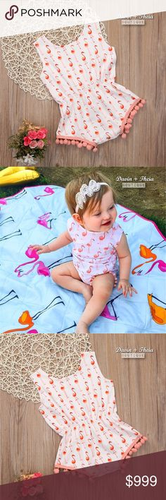 COMING SOON‼️💖 Swan Princess Romper 🌟BRAND NEW🌟  Swan princess print sleeveless romper with pompom trim. Material is Cotton & Polyester. Limited quantity. RESERVE YOURS NOW!  💟Please ask questions before purchasing. 💟PRICE is FIRM 💟NO Trades Davin+Theia Bottoms Jumpsuits & Rompers