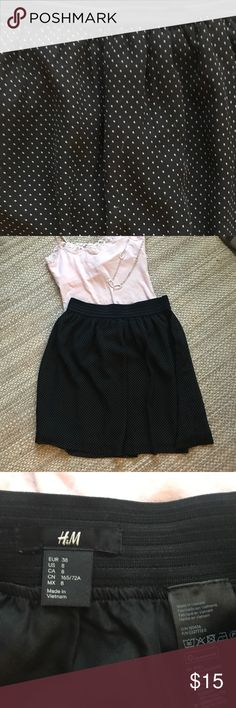 EUC Black Polka Dot H&M Skirt - Sz 8 EUC H&M skirt. Size 8. This skirt is in excellent condition and it's even lined. Super cute! H&M Skirts Mini