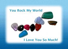 I Love You, You Rock My World Greeting Card