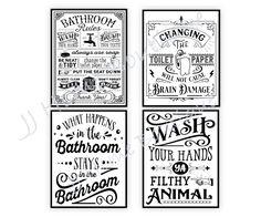 Digital Form, Digital Image, Bathroom Rules, Bathroom Prints, Farmhouse Wall Decor, Us Images, All Design, You Changed, Don't Forget