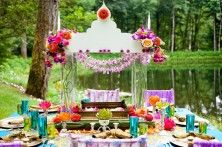 colorful outdoor weddings
