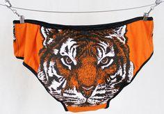 Tiger Face Panties M handmade underwear diy xannabotx