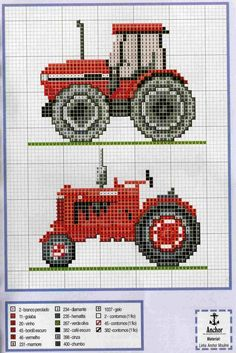 <3 I know this is cross stitch but it would look lovely on pale solid squares between strips of fabric that look like fields.