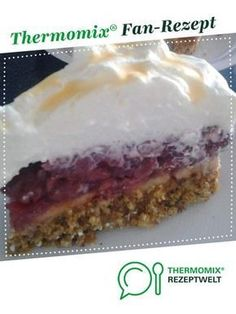 Kirsch-Eierlikörtorte Cherry eggnog pie of thermotrulla. A Thermomix ® recipe from the Baking Sweet category www.de, the Thermomix® Community. Baby Food Recipes, Cookie Recipes, Dessert Recipes, Eggnog Cake, Beaux Desserts, Pecan Bars, Baking With Kids, Food Cakes, Baking Ingredients