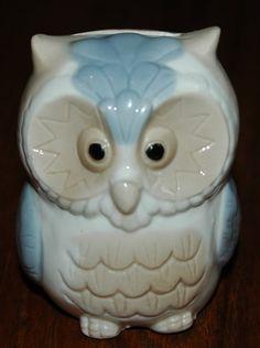 Vintage 70s KITSCH  Ceramic OWL Bank Piggy Bank by ChicVintageWear, $12.00