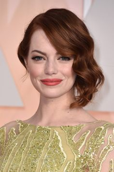 Oscars 2015 Emma Stone red carpet beauty - Hollywood Reporter