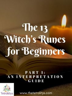 The Witch's Runes are a set of 13 occult symbols used for divination and magick. These runes are very mysterious and we know little about them. In this first article, you will find the complete meanings and correspondences of each rune.