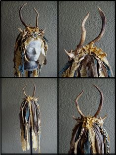 Wasteland Shaman Headdress by Xavietta.deviantart.com on @DeviantArt