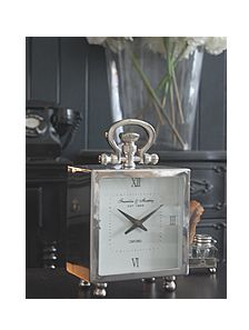 Polished Silver Chrome Mantel Clock Ideas And Designs In