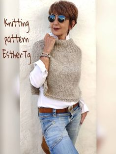 Poncho Knitting Patterns, Knit Patterns, Designer Knitting Patterns, Knitting Ideas, Casual Outfits, Cute Outfits, Fashion Outfits, Knitted Poncho, Knitted Cape Pattern