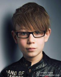 Hair for boys with glasses