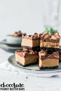 30 Days of Christmas Sweets: No Bake Chocolate Peanut Butter Bars